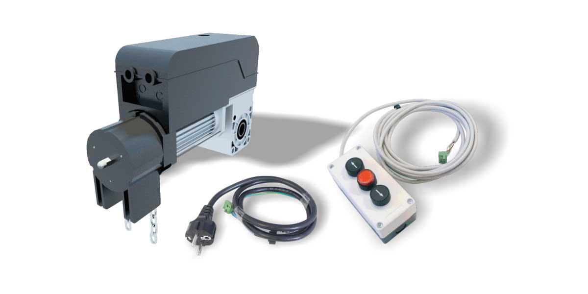 automatizari usi garaj sectionale industriale kit PEGASO mono fazat 230V